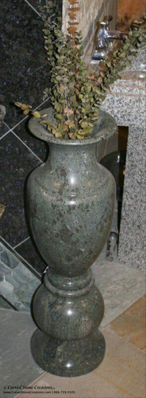 H32 D10 Marble Vase