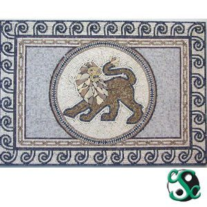 Marble Lion Mixed Mosaic