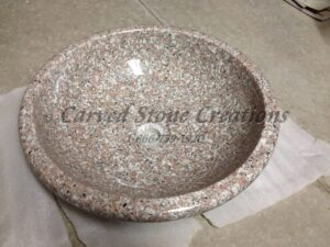 D15xH4.5 Wild Rose Polished Rimmed Vessel Sink
