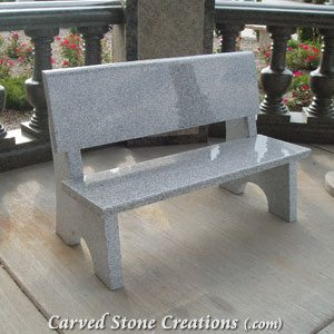 Park Bench with Backrest, 4-FT Bianco Catalina