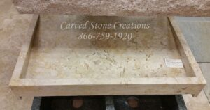 36×23.5xH5 Golden Orient Travertine Slant Sink H/F