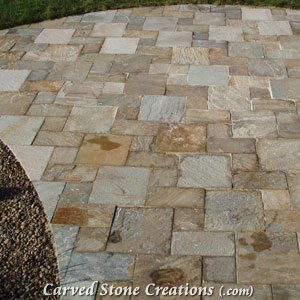 6×6 Quartzite Pavers, Serengeti Gold
