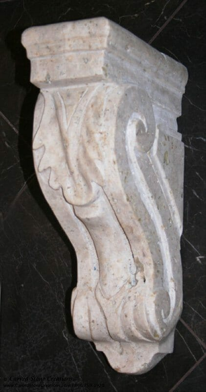 Large Acanthus Corbel, 4x8xH14, Tuscany Classic Travertine
