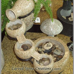 Cascading 5-Vessel Fountain, Giallo Fantasia