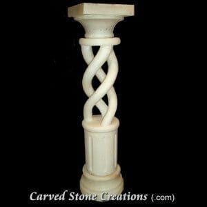 Marble Rope-Twist Pedestal