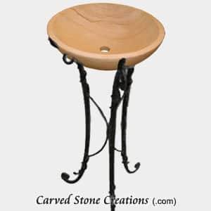 Scrolled Iron Pedestal Stand, Antq. Brass
