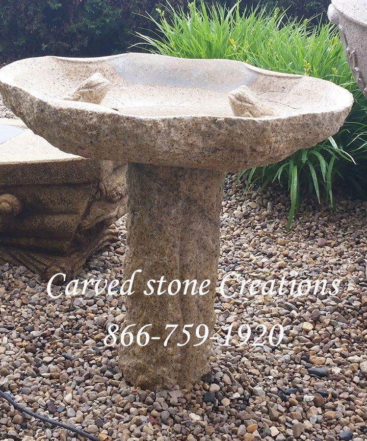 Stone bridbath