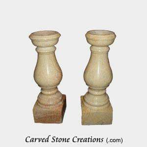 Polished Beige Venato Marble Candle Holder