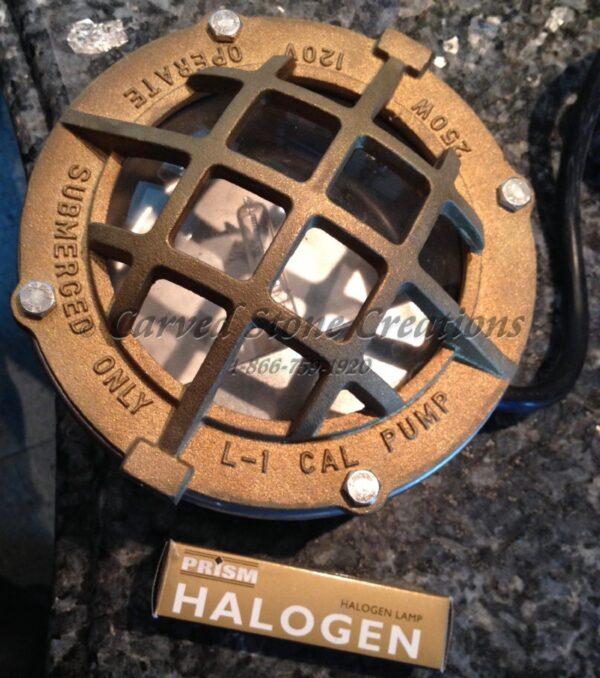 250W Underwater Halogen Light Brass Housing
