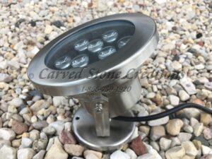 DC24V 9W Stainless Housed UW Warm White LED Light (3000K), 9 LED