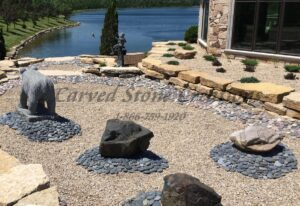 Large Black Tumbled Pebbles