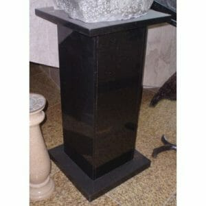 H36xW18 Polished Square Abs Black Granite Pedestal