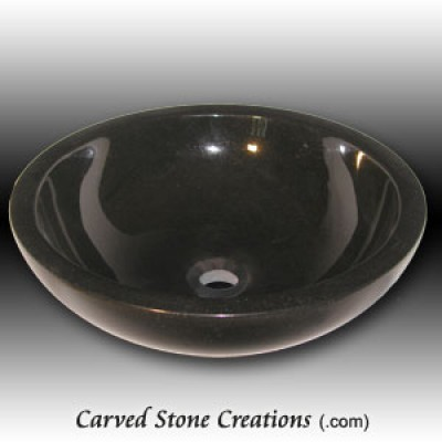 Absolute Black Granite Vessel Sink