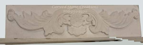 6x24x2 Acanthus Sandstone Relief Carved Block