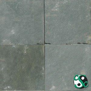 12×12 Forest Green Slate Natural Cleft Tile