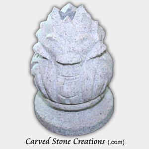 Artichoke Fountain Finial, Fine Temple Grey