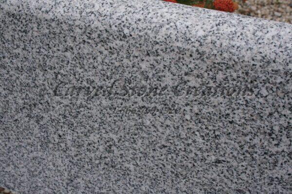 Bianco Catalina Granite : Round contour surround bianco catalina carved stone