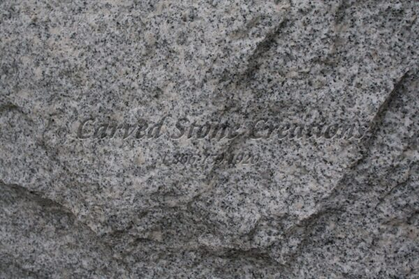 Bianco Catalina Granite : Bianco catalina granite sample carved stone creations