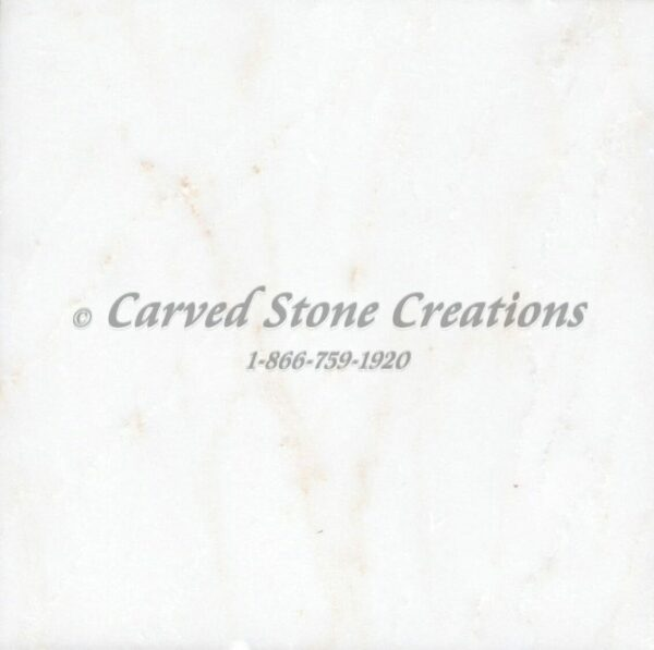 5ft Marble Hearth Stone 60x20x3-1/2 Bianco Puro