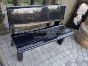 Park Bench with Backrest, 4-FT Absolute Black