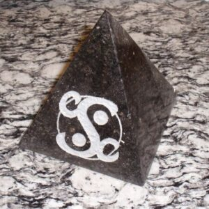 Pyramid CSC Logo Paper Weight Black Galaxy