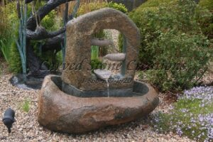 Cascading Hollow Boulder Fountain