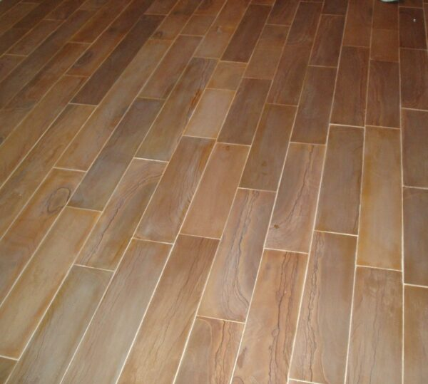 Wide Burlwood Sandstone Honed Planking