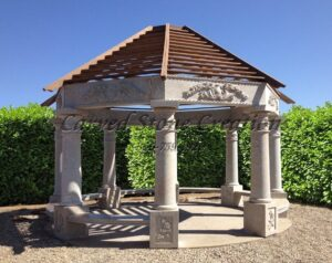 18FT Octagon Gazebo with 8 Columns, Cabo Sands Granite
