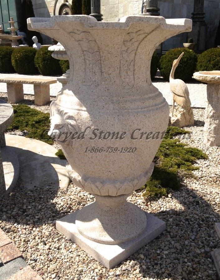 Carved Granite Planter