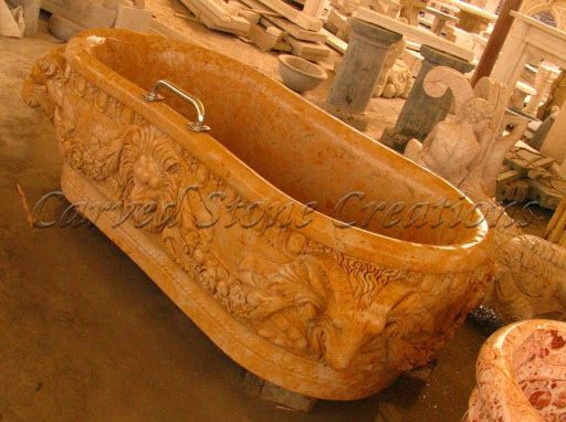 Carved Stone Bathtub