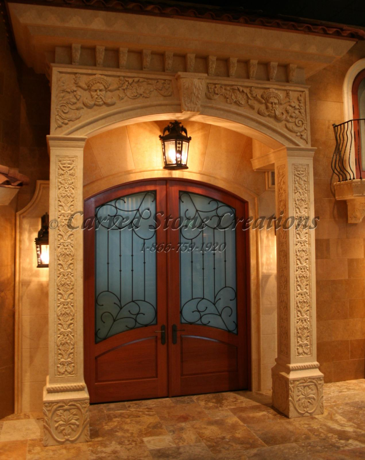 Stone Front Entryway