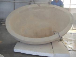 Hand-carved stone bathtub