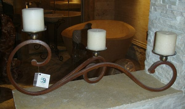 Castillian Table Candelabra with 3 Candles
