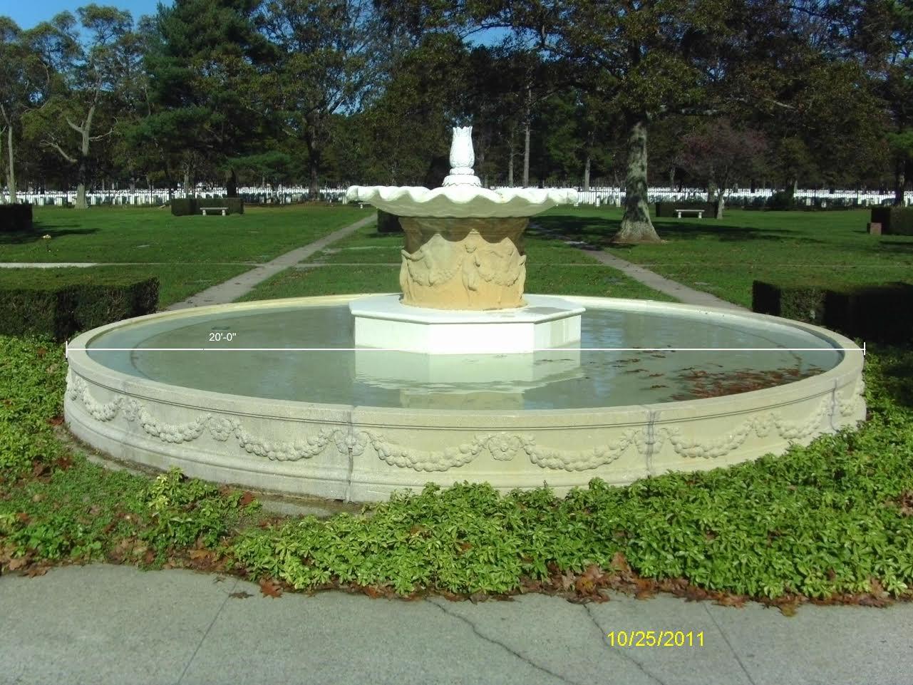 Deteriorating Concrete Fountain
