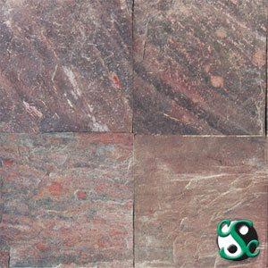 12×12 Copper Quartzite Natural Cleft Tile