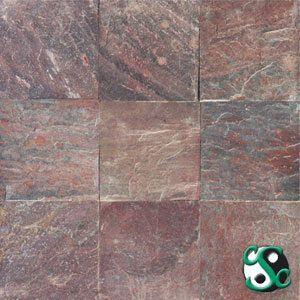 16×16 Copper Quartzite Natural Cleft Tile