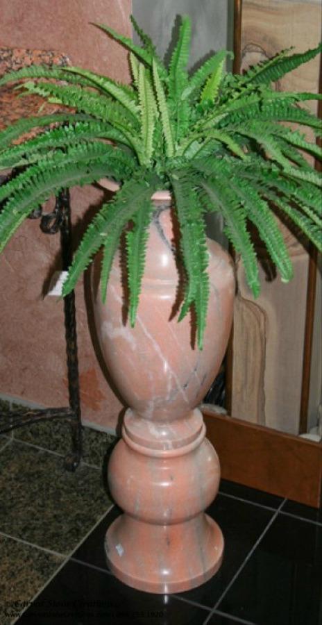 Marble floor vase