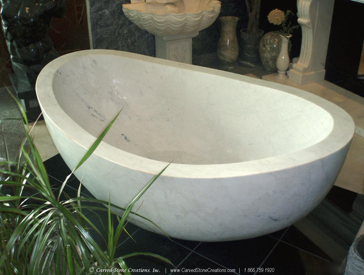 White Marble Bathtub
