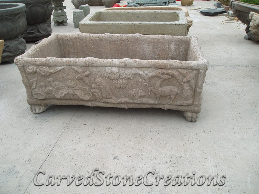 Detailed carved tub