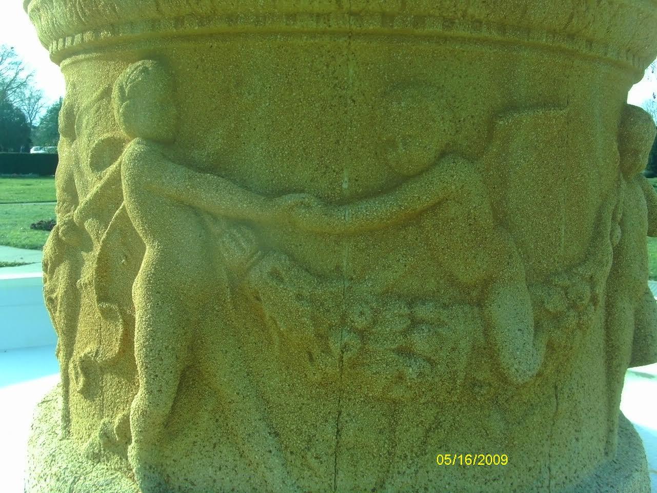 Deteriorating Concrete Fountain Details