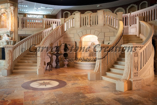 Double stone staircase