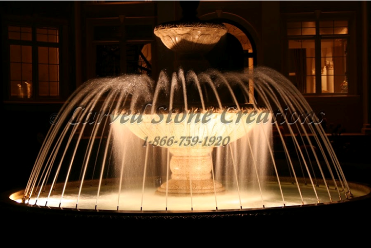 Fountain with Spray Ring