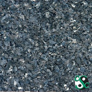 Blue Pearl Polished Granite Sample