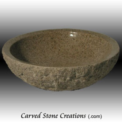 Giallo Fantasia Granite Vessel Sink