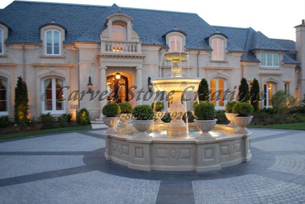 Golden Cypress Granite Fountain