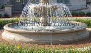 14' Flared Round Fountain Pool Surround, Giallo Fantasia Y