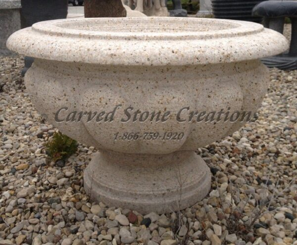 Carved Granite Planter, H16 x D24