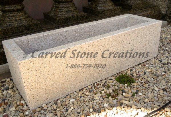 Granite Trough Planter with Texture, Giallo Fantasia