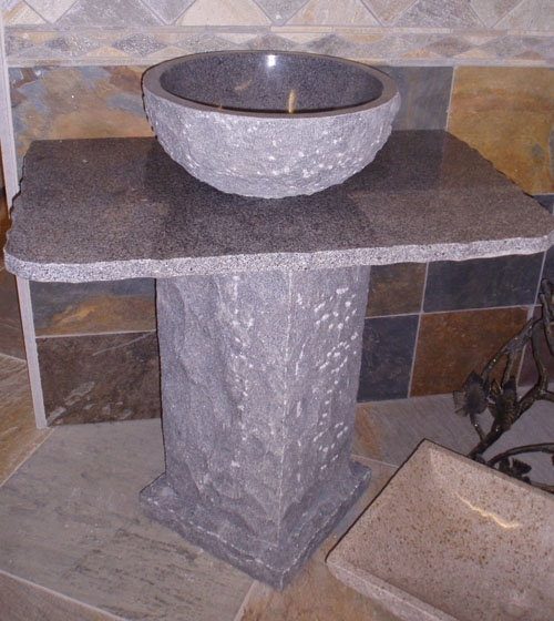 hand carved granite sink