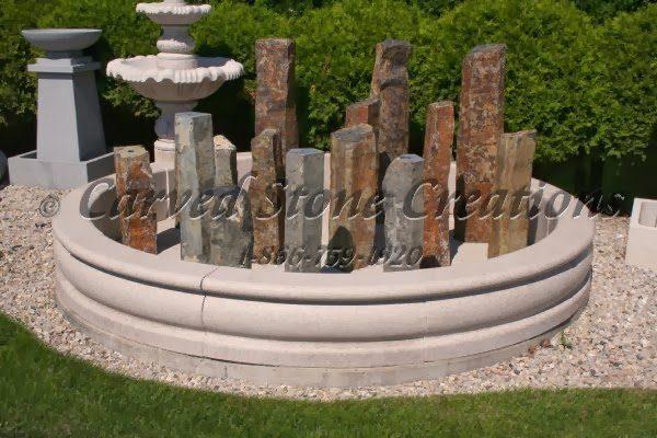 10' Round Tuscan Fountain Pool Surround, Giallo Fantasia D